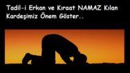 Tadil-i Erkan ve Kıraat C.A.H (önemli)