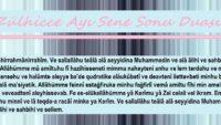Zülhicce Ayı Sene Sonu Duası – Cübbeli Ahmet Hoca