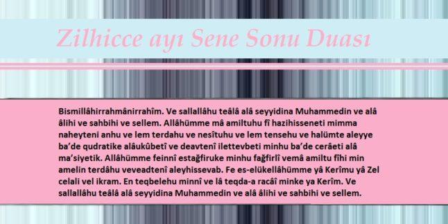 Zilhicce Ayı Sene Sonu Duası – Cübbeli Ahmet Hoca