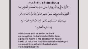 Salatül Fatih Sigası – Salavat ı Fatih 100 adet