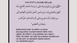 Salatül Fatih Sigası – Salavat ı Fatih